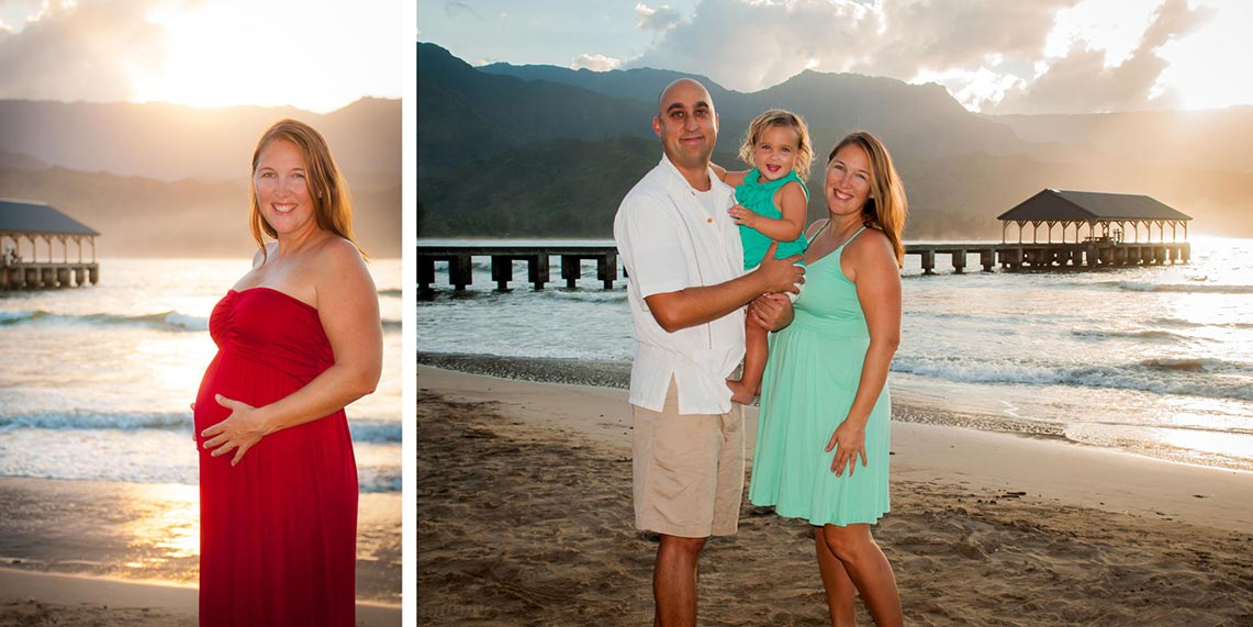 kauai photographer - maternity portraits
